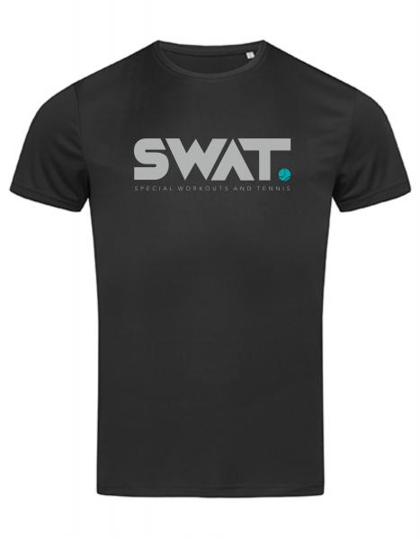 SWAT Unisex Performance Sportshirt schwarz